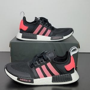 New Adidas NMD_R1 Boost Black Signal Pink Shoes